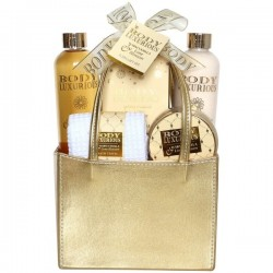 GOLD BATH BASKET - BODY LUXURIOUS GOLD - VANILLA & TILLEUL - 5 PCS