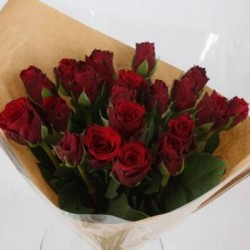 Bouquet de 12 roses rouges