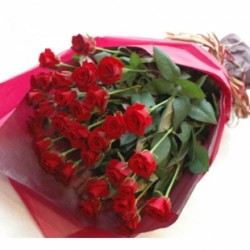 Bouquet de 30 roses rouges