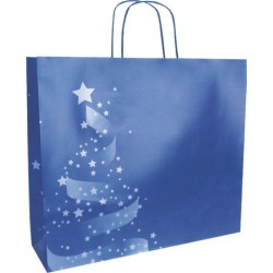 Sac Kraft Noël « Christmas Shiny » 280x100x220mm