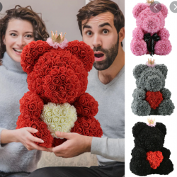 Ours peluche rose